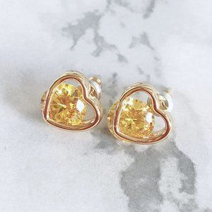Kate Spade Colorful Zircon Heart Earrings